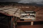 La cour vue du toit